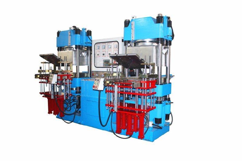 鑫城VC250T双联抽真空平板硫化机