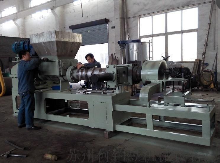 供应优质造粒生产线造粒设备单螺杆拉条造粒挤出机省人工省电