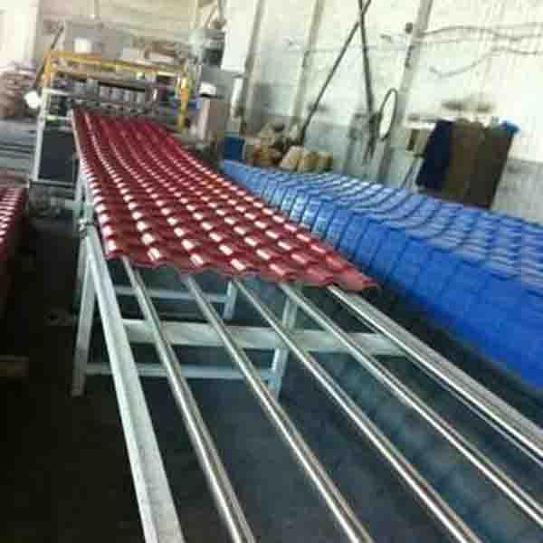 灰色合成树脂瓦设备塑料彩瓦设备生产厂家找艾斯曼